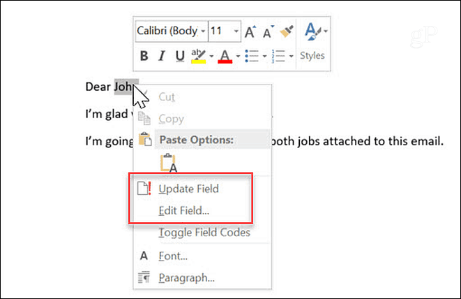How to Automate Microsoft Word Forms with Custom Fields 7