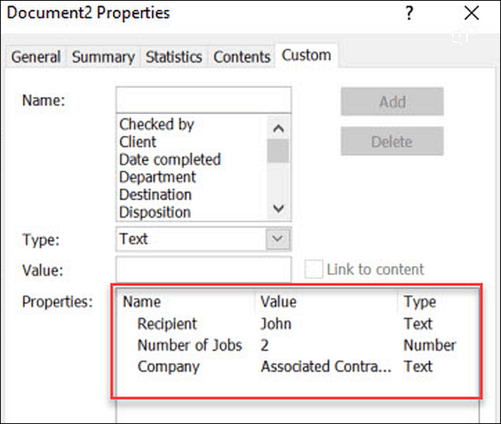 How to Automate Microsoft Word Forms with Custom Fields 6