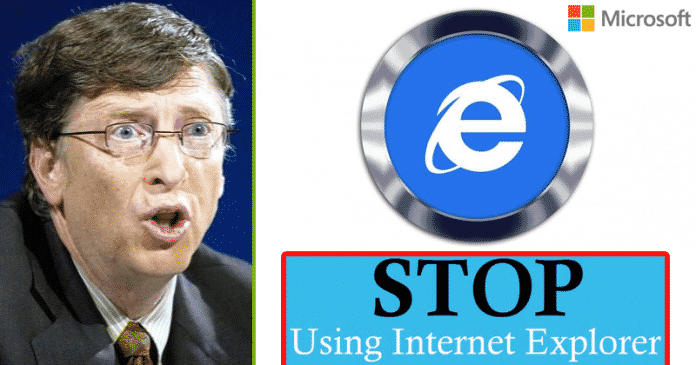 Microsoft: Stop Using The Internet Explorer