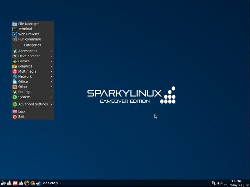 Sparky Linux - 13 Best Linux Distros For Gamers (2019 Edition)