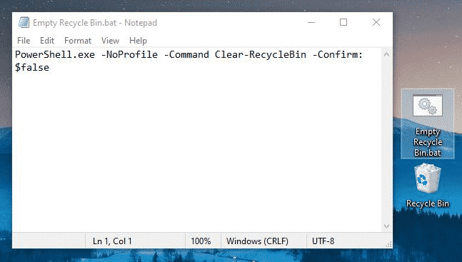 Step 1 PC - How To Empty Recycle Bin When Shutting Down Your Windows PC