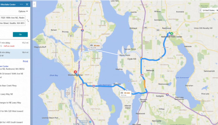New Bing Maps traffic coloring makes it easier to choose the fastest route
