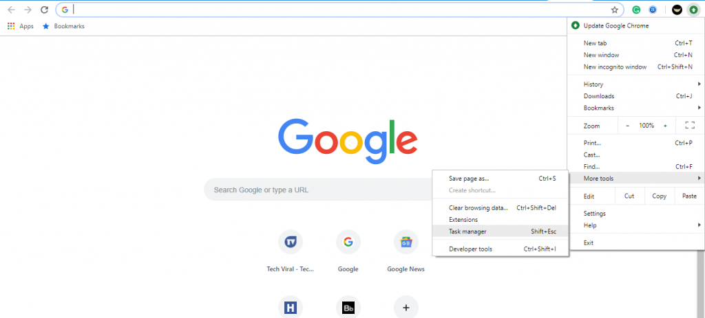 Step 1 Chrome 1024x463 - How To Know Which Chrome Tabs Are Consuming More RAM & CPU