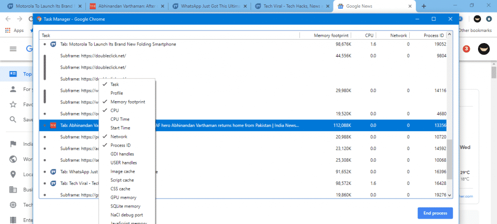 Step 3 Chrome 1024x463 - How To Know Which Chrome Tabs Are Consuming More RAM & CPU