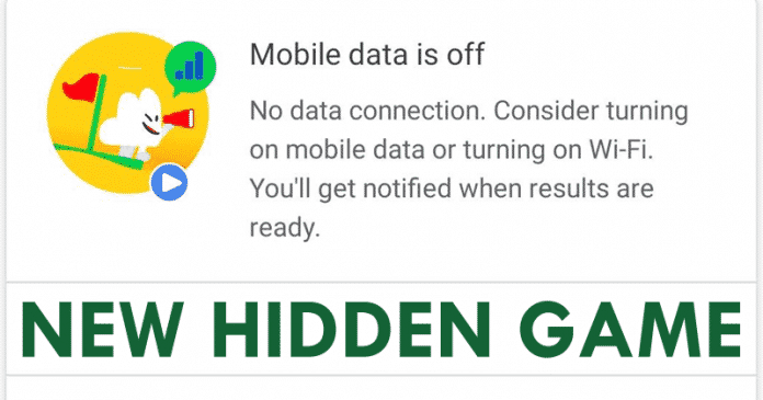 No internet? The Google App Has A New Hidden Game