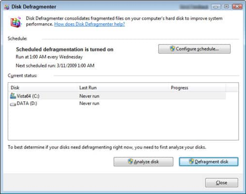 Defragment your Hard Drive