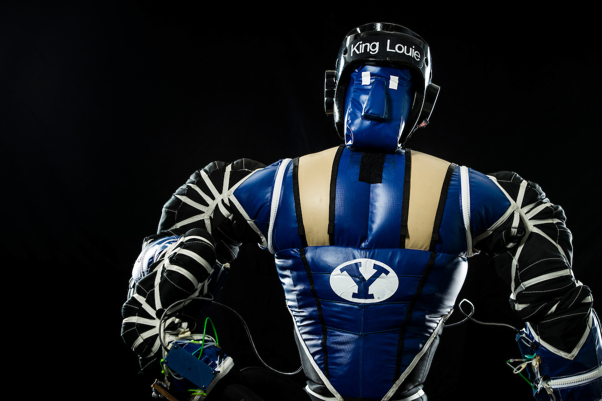NASA-funded inflatable soft robot King Louie from Brigham Young University