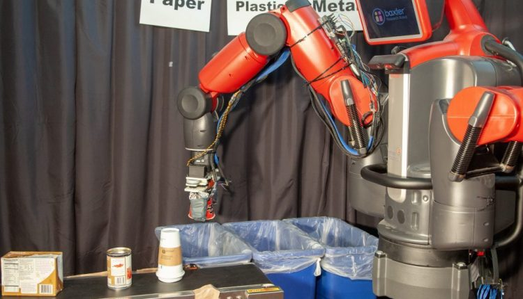 Recycling Robot Learns Through System of Touch