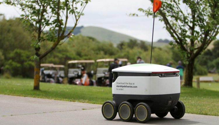 Starship Robots Making Deliveries on Napa Valley Golf Course