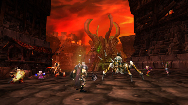A dungeon in World of Warcraft Classic.