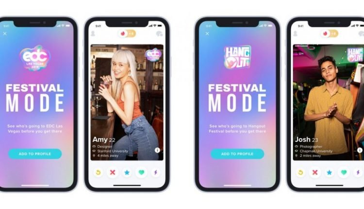 Tinder now lets you find fellow music festival hotties