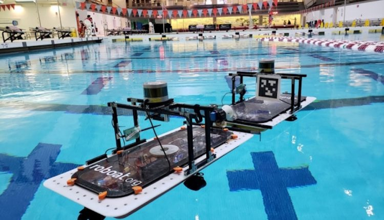 Autonomous boats can target and latch onto each other