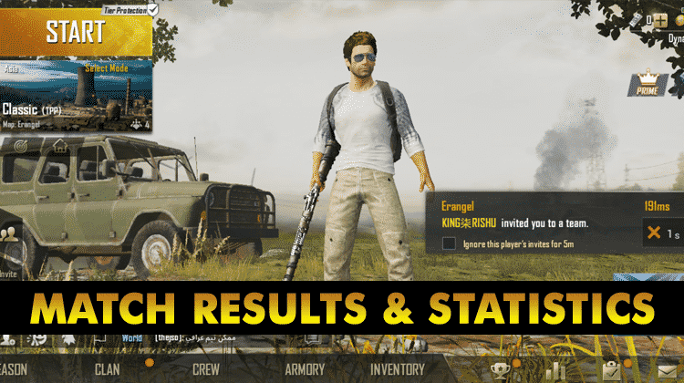 How To View Your Match Results and Statistics In PUBG Mobile