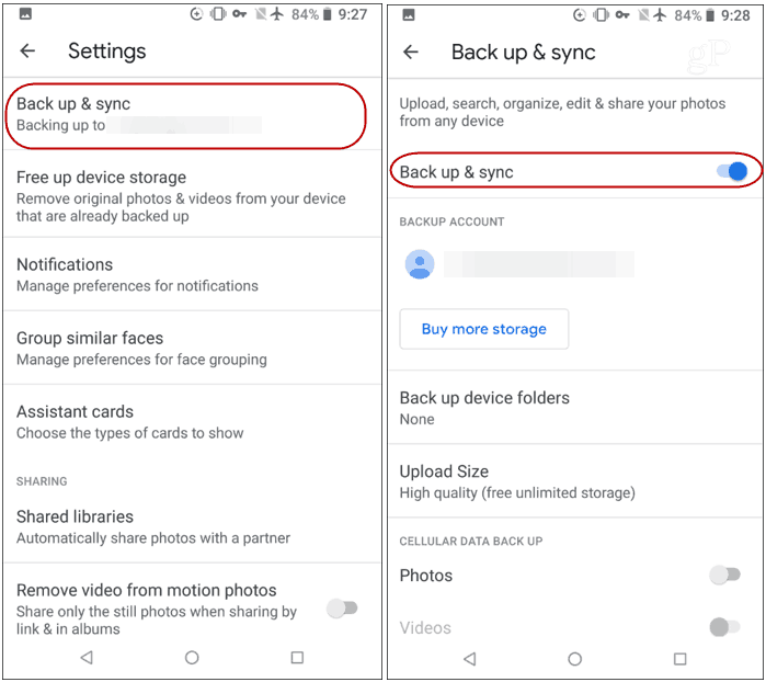 Android Backup and Sync Settings