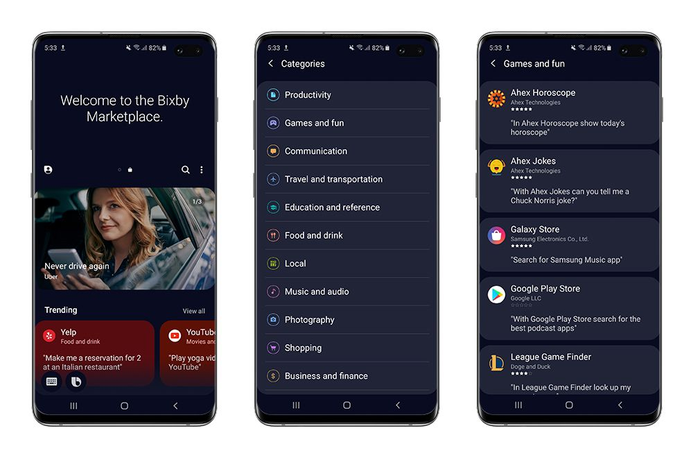 Samsung launches a Bixby app store to better compete with Alexa and Google Home 1