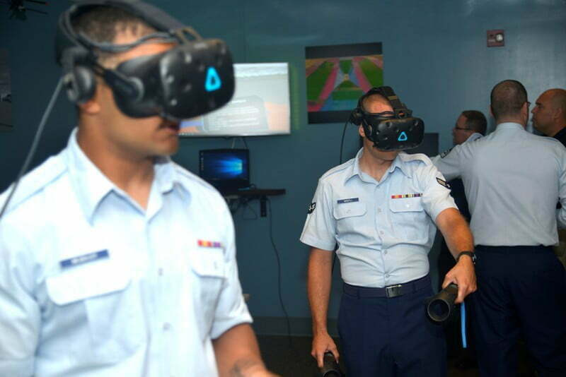 USAF uses virtual reality VR technology for airfield maintenance training 1