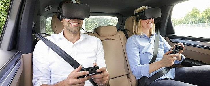 Virtual Reality in the Backseat of a Porsche Puts You Onboard a Space Shuttle 1