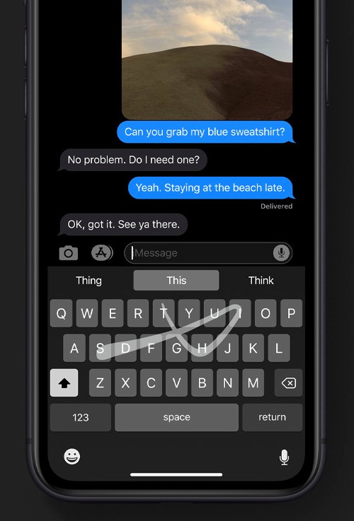 Apple's QuickPath'swipe to type' texting feature is seriously cool