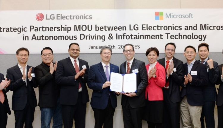 LG partners with Microsoft to accelerate an automotive revolution