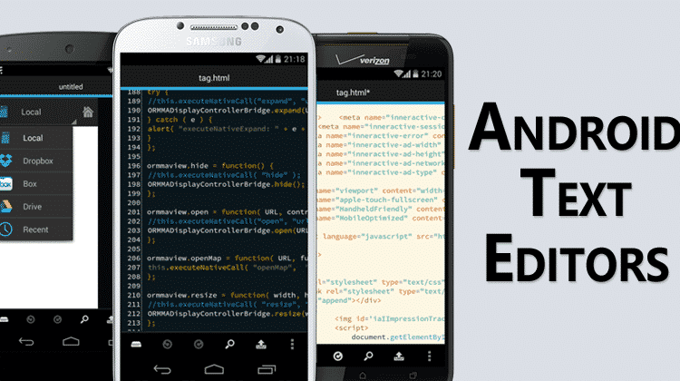 Top 5 Best Android Text Editor For Programming