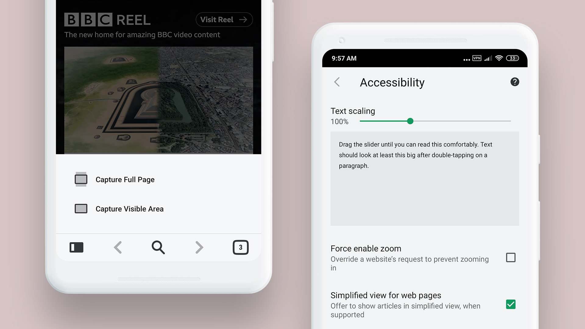 Full web page screenshot feature on Vivaldi for Android. Image: Vivaldi.