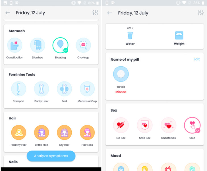 period tracking app