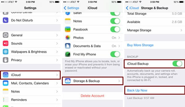 Backup of your iOS Device