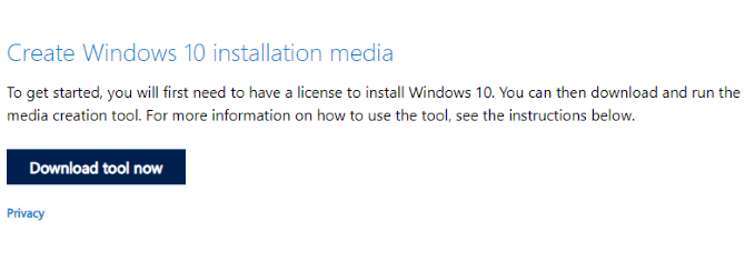 Create Bootable Windows 10 USB