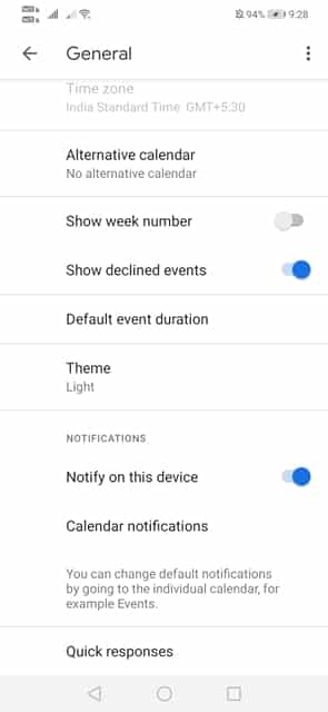 Enable Dark Mode in Google Calendar