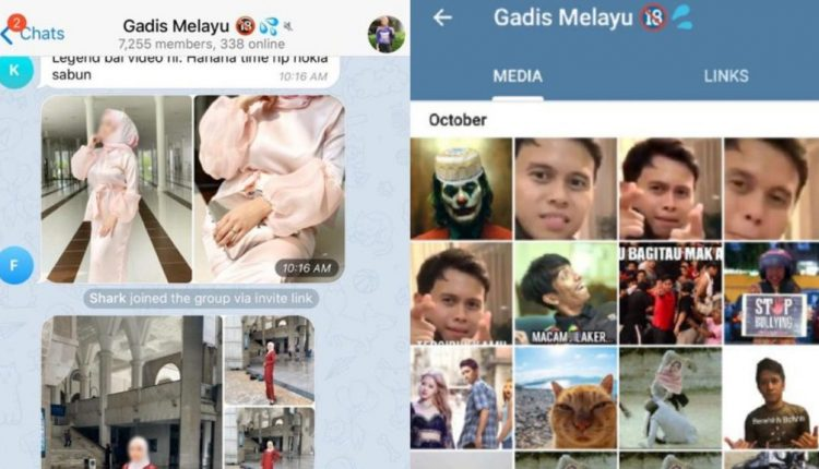 Netizens are spamming a Malaysian telegram group that shared pictures of women