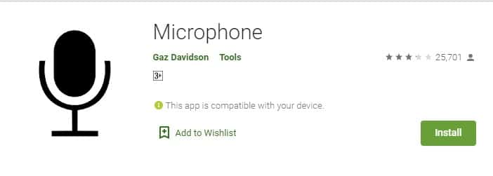 Using Microphone App