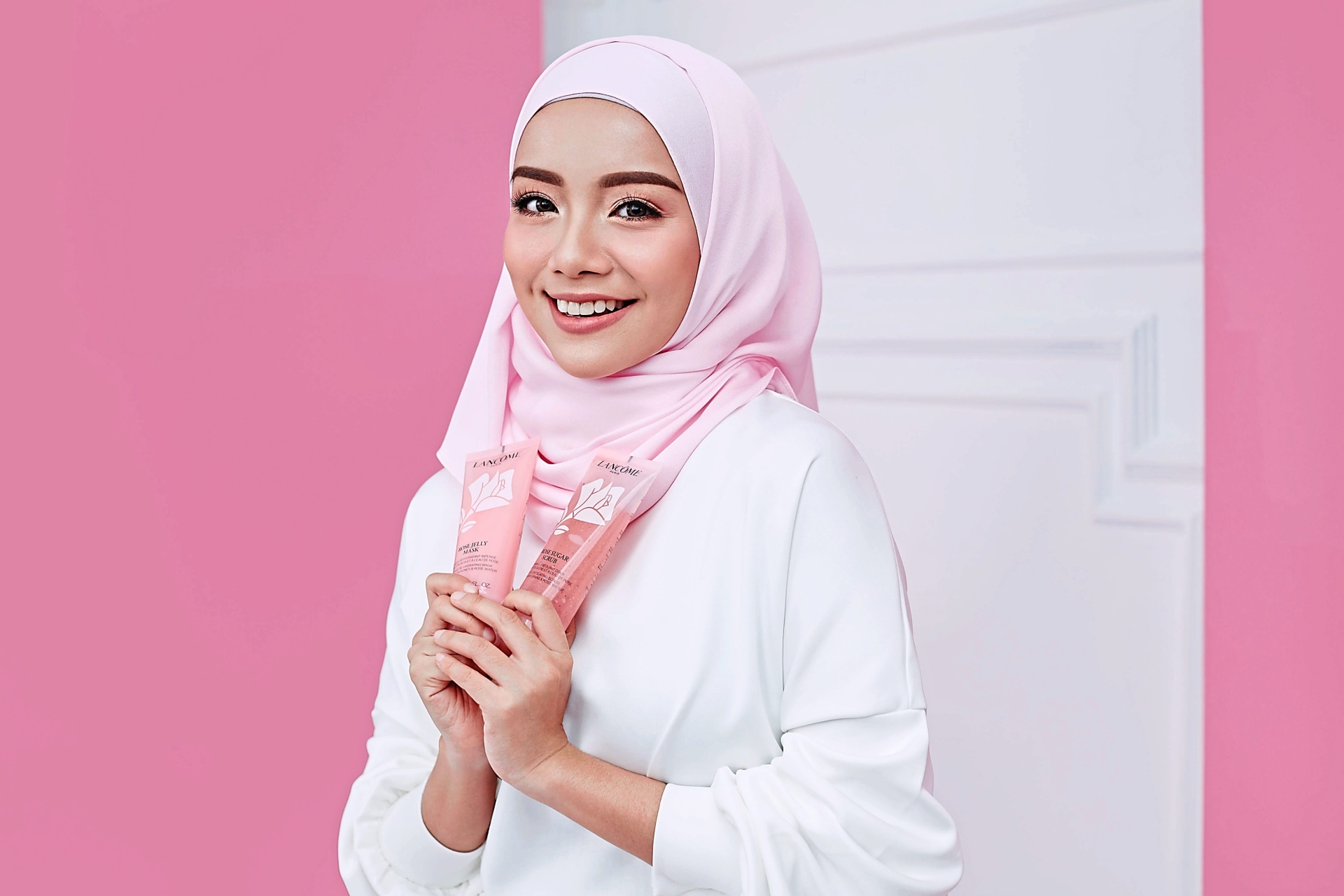 This year Lancome also signed on actress, host, and entrepreneur Mira Filzah, 26, as the face of Lancome Raya. — Lancome