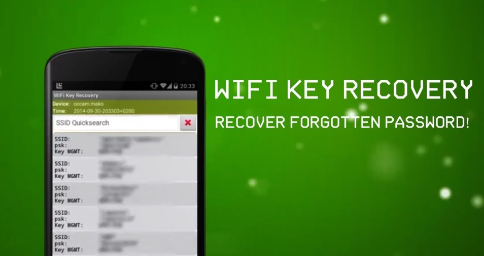 Recover WiFi Passwords Using Android Device