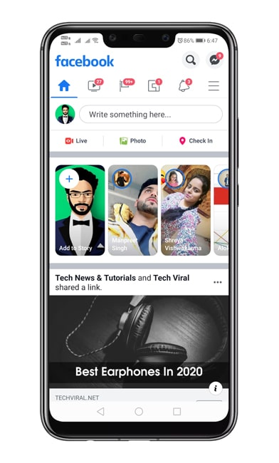 Open Facebook App