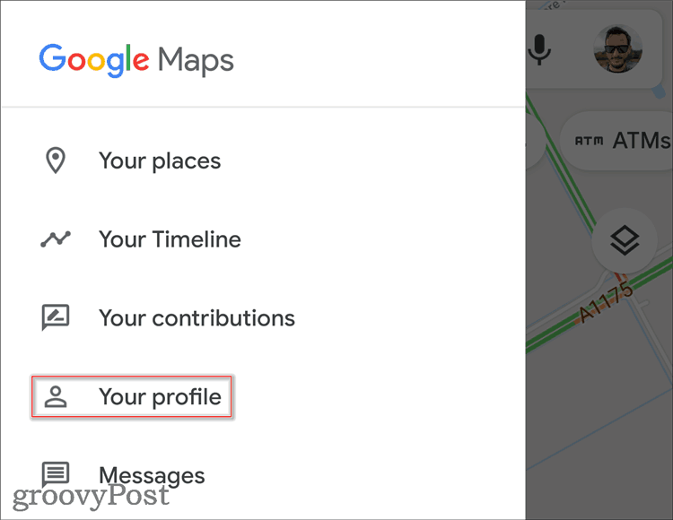 Google Maps Profile edit