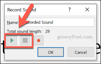 Playing or stopping audio in PowerPoint