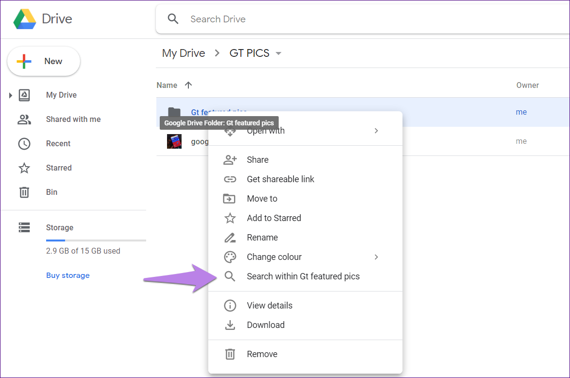 Google drive folder tips tricks 17