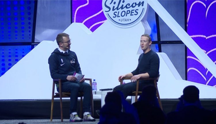 Facebook CEO Mark Zuckerberg talks at 2020 Silicon Slopes Tech Summit