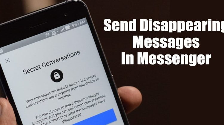How To Send Disappearing Messages In Facebook Messenger