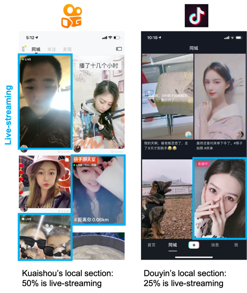 Kuaishou-vs-Douyin-live-streaming-863x1024 Why Kuaishou beats Douyin for e-commerce Video and streaming Kuaishou Features E-commerce and New Retail