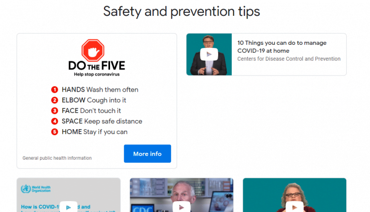 Google Launches a Coronavirus Information Website