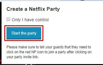 Click on'Start the part' to get the URL