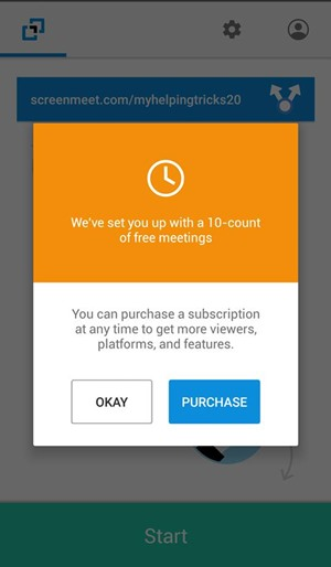 Share screen with multiple android