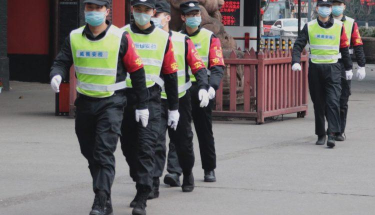 coronavirus, police, ncov2019, chengdu, sichuan