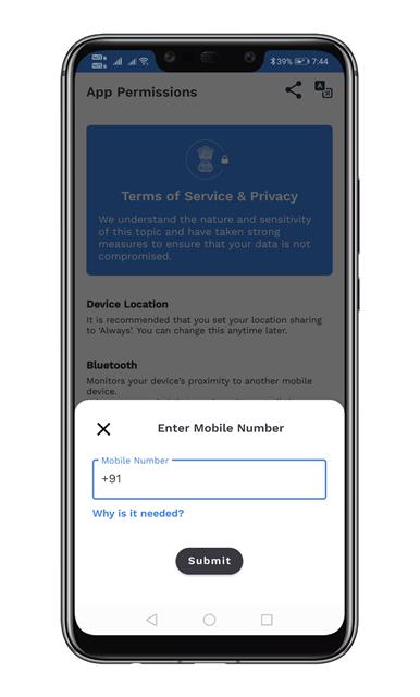 Register mobile number