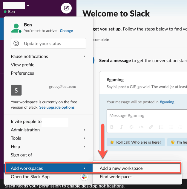 Adding multiple Slack workspaces