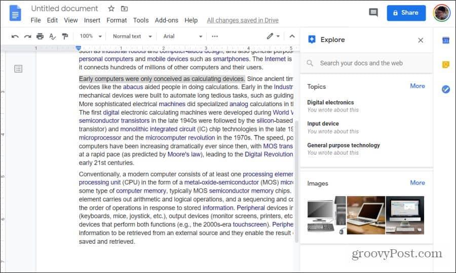using google explore
