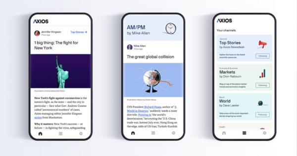 Axios Rushes to Release App Due to Coronavirus