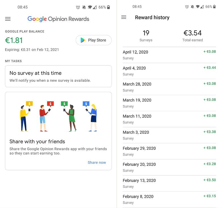 google rewards screenshots
