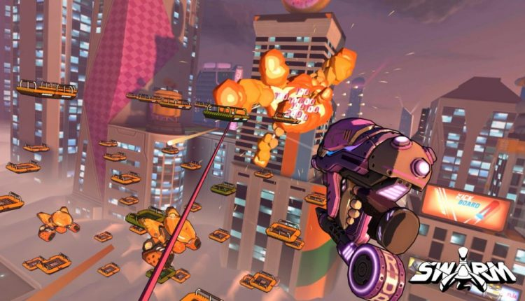 Swarm puts Spider-Man-style swinging into a VR arcade shooter